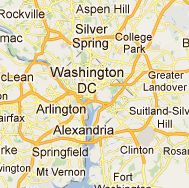 Overview map of the Washington, DC area.