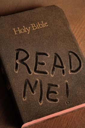 A dust-covered Bible