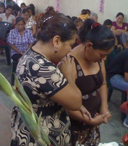 Annie Cerritos Praying With Olga