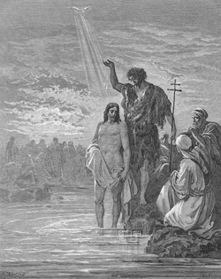 Baptism of Jesus by Gustav Doré