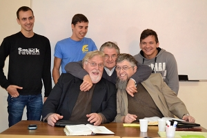 Roy Olsen & Jim Kerwin with some Romanian Bible students