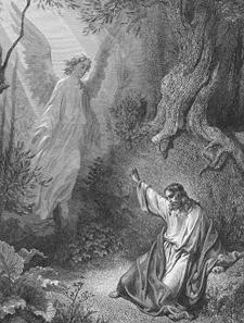 Doré's image of Jesus in Gethsemane