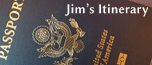 Image of passport linking to Jim Kerwin's itinerary