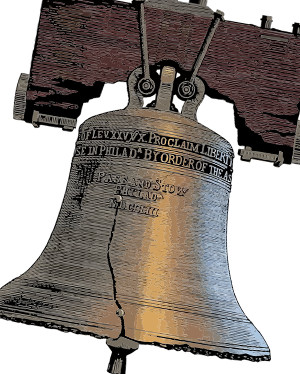 The Liberty Bell with its Leviticus 25 reference about proclaiming liberty during the year of jubilee.