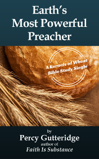 Cover of Percy Gutteridge's message 'Earth's Most Powerful Preacher